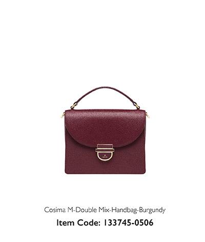 Aigner Woman Handbag Cosima Burgundy
