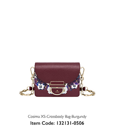 Aigner Woman Crossbody Bag Cosima Burgundy