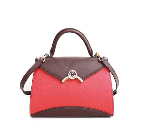 Coralie Malia Handbag-Brown/Red