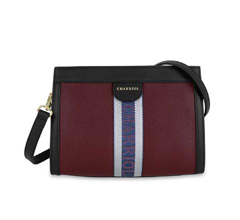 DEAUVILLE Handbag-Black-Bordeaux