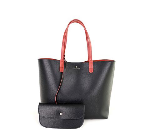 Havana Tote Bag-Black & Orange