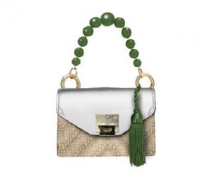 BAG MINI BAG LILY STRAW/GREEN/WHITE PEARL