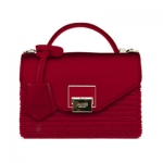 BAG MINI BAG LILY F/R RAFIA RED+ PATTA RED