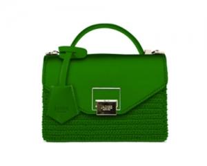 BAG MINI BAG LILY F/R RAFIA GREEN+ PATTA GREEN