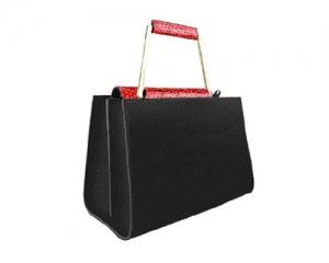 BAG ADELE BIG RED/BLACK