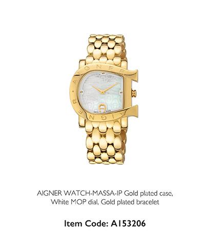 Aigner Watch Massa Gold