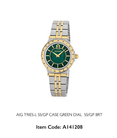Aigner Woman Trieste Watch Green Case