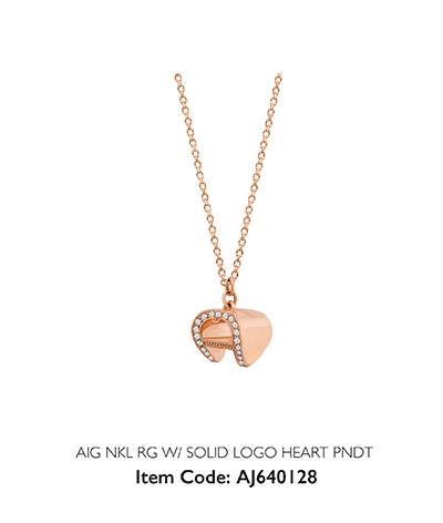 Aigner Woman Necklace Gold Heart