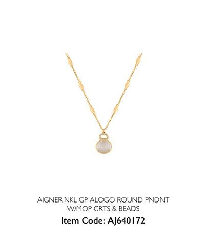 Aigner Woman Necklace Alogo