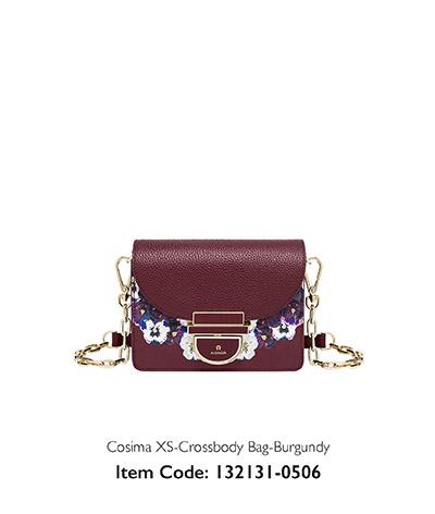 Aigner Woman Crossbody Bag Cosima Burgundy