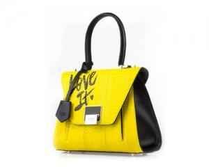 BAG BAULE SMALL LOVE IT YELLOW/BLACK S18