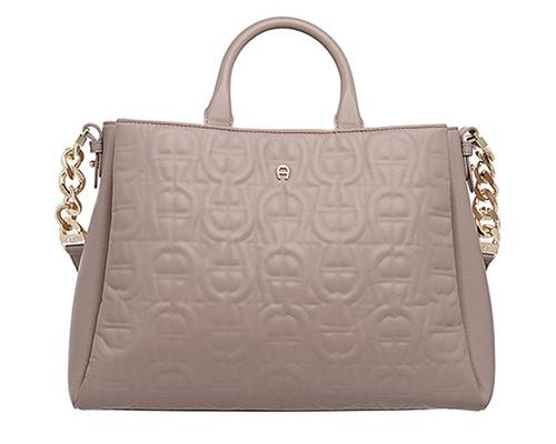 Olivia M-Handbag-Stone Grey