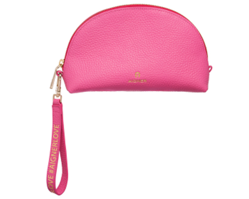 Basics-Pouch-Half Moon Shape-Candy Pink