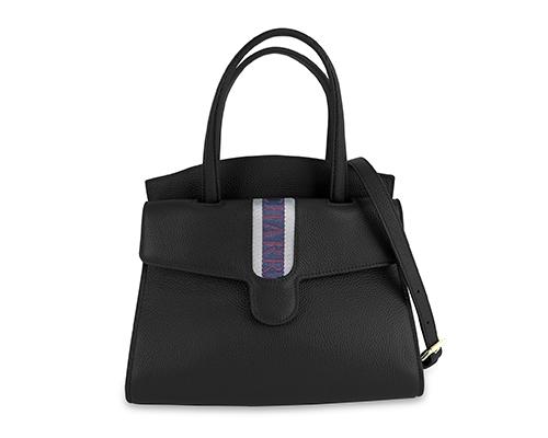 DEAUVILLE Handbag-Lichee Black